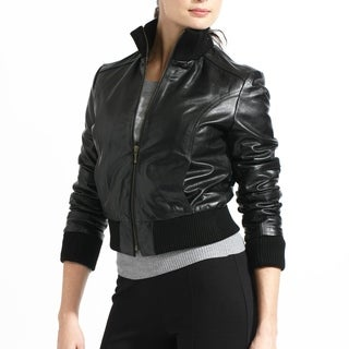 Slim Fit Buffalo Leather Bomber Jacket