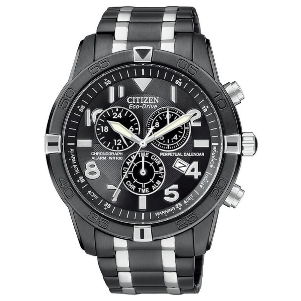 Citizen Men's Black Ion-plated Eco-Drive Watch