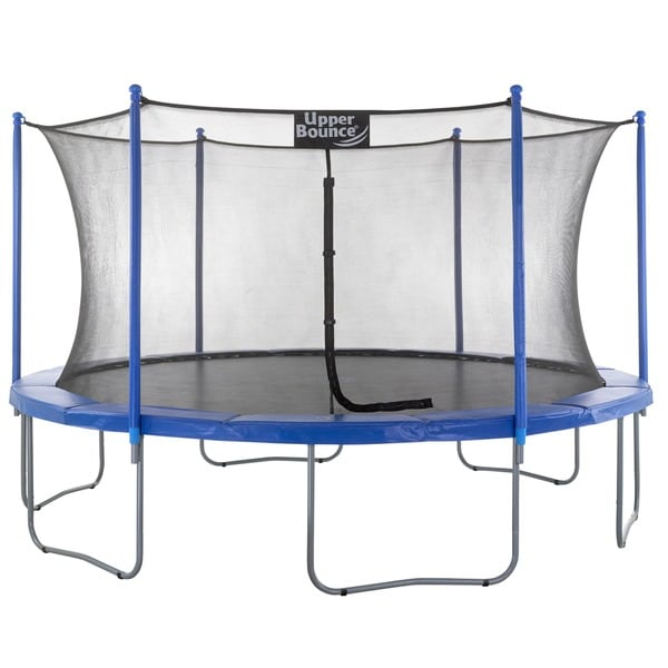 Upper Bounce 14-foot Trampoline & Enclosure Set equipped with the 'Upper Bounce Easy Assemble Feature'