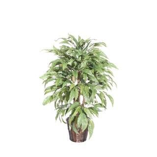 Mango Tree 4-foot Silk/ Polyester Decorative Plant