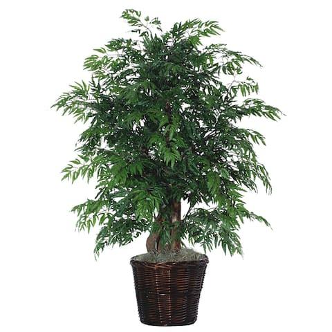 Ming Aralia Foliage Silk, Polyester Extra Full Decorative Plant