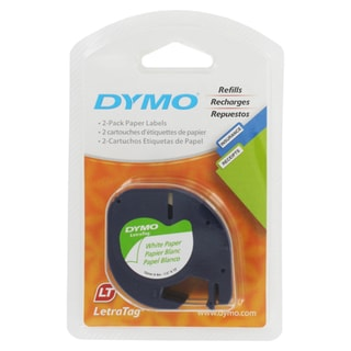 Dymo LetraTag Pack Paper Label Refills (2 Refill)
