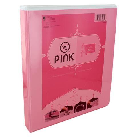 Wilson Jones Locking Letter Size Pink D-Ring Binder (Pack of 12)