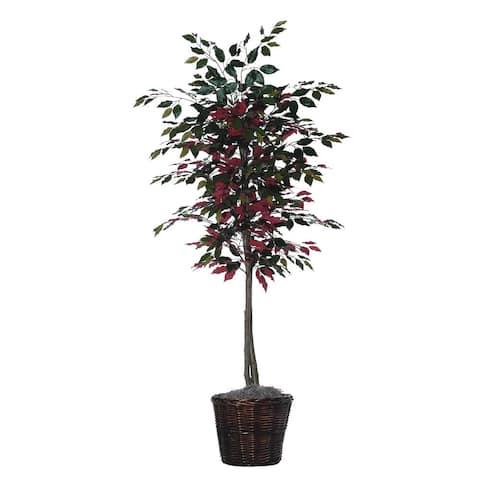 Capensia Tree Executive 6-foot Silk/ Polyester Decorative Plant