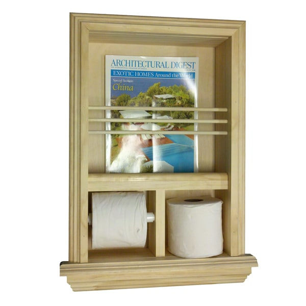 Shop Recessed Magazine Rack Toilet Paper Combo Iii Free