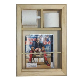 Bevel Frame In the Wall Magazine Rack/ Toilet Paper Combo