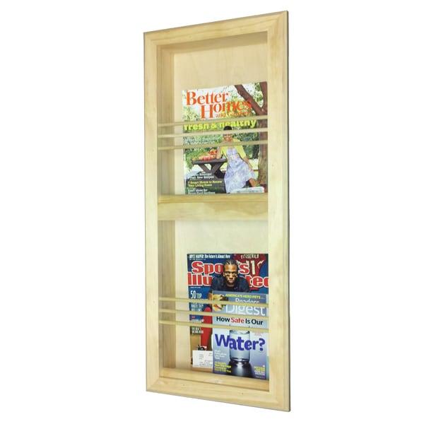 Double Bevel Frame Recessed Magazine Rack
