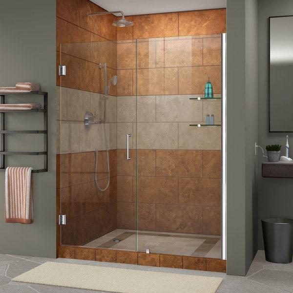 DreamLine Unidoor 53 - 57 in. Frameless Hinged Shower Door