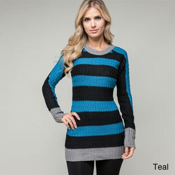 Stanzino Women's Striped Tunic Sweater
