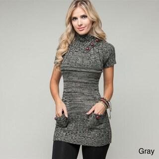 Stanzino Women's Short-sleeve Knit Sweater Tunic