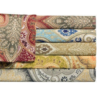 Milano Colorful Cotton Deep Pocket Print Sheet Set