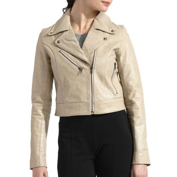 Women's Buffalo Distressed Leather Biker Jacket