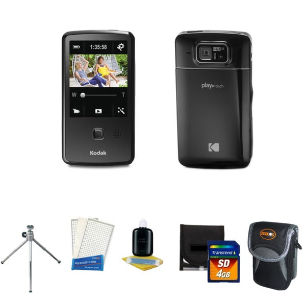 Kodak Playtouch Zi10 Black Digital Video Recorder with Deluxe Bonus Kit