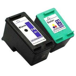 HP 74XL/ 75XL Black/ Color Ink Cartridges (Remanufactured) (Pack of 2)