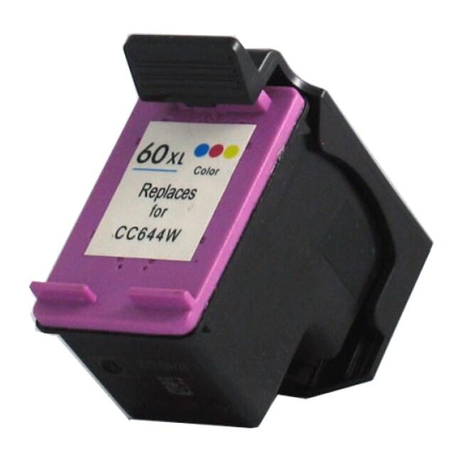 N HP 60XL/ CC644WN High Yield Tri Color Ink Cartridge (Re...