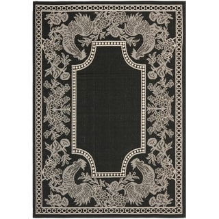 Safavieh Rooster Black/ Sand Indoor/ Outdoor Rug