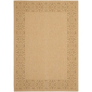 Safavieh Courtyard Natural/ Gold Indoor/ Outdoor Rug
