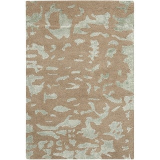 Safavieh Handmade Soho Taupe/ Light Grey New Zealand Wool Rug (2' x 3')