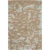Safavieh Handmade Soho Taupe/ Light Grey New Zealand Wool Rug - 2' x 3'