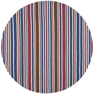 Safavieh Handmade Children's Stripes New Zealand Wool Rug (6' Round)