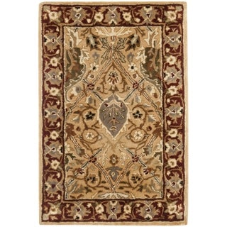 Safavieh Handmade Persian Legend Ivory/ Rust Wool Rug (2'6 x 4')