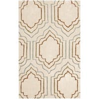 Safavieh Handmade Modern Art Moroccan Beige/ Multicolored Polyester Rug - 2'6 x 4'