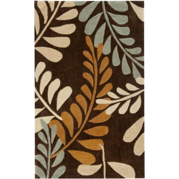 Safavieh Handmade Modern Art Ferns Brown/ Multicolored Polyester Rug (2'6 x 4')
