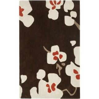 Safavieh Handmade Modern Art Floral Bliss Brown/ Multicolored Polyester Rug (2'6 x 4')