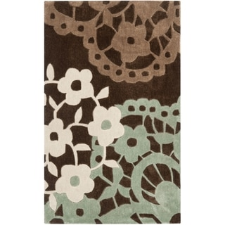 Safavieh Handmade Modern Art Ornamental Terra Brown/ Multicolored Polyester Rug (2'6 x 4')