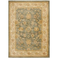 Safavieh Oushak Heirloom Traditional Grey/ Cream Rug (8' x 11')