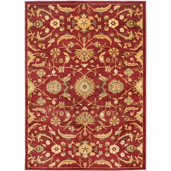 Safavieh Oushak Red Gold Rug 9 6 X 13 Free Shipping