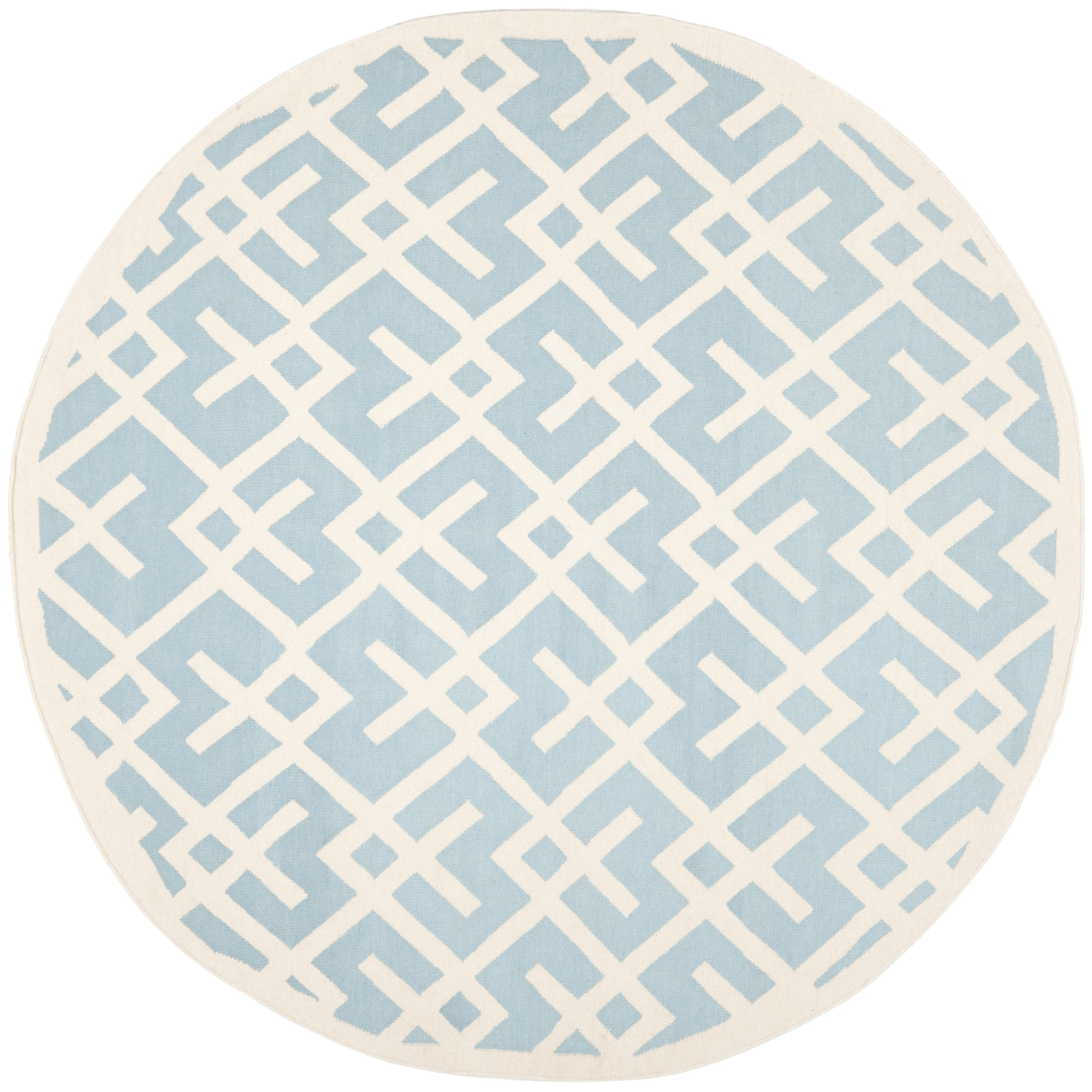 Safavieh Moroccan Light Blue/ Ivory Reversible Dhurrie Wo...