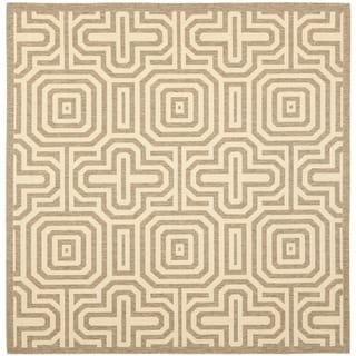 Safavieh Matrix Brown/ Natural Indoor/ Outdoor Rug (6'7 Square)