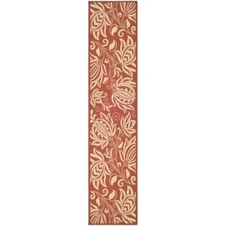 Safavieh Andros Red/ Natural Indoor/ Outdoor Rug (2'2 x 14')