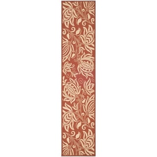 Safavieh Andros Red/ Natural Indoor/ Outdoor Rug - 2'2 x 14'