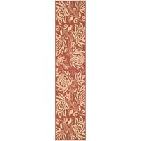 Safavieh Andros Red/ Natural Indoor/ Outdoor Rug - 2'2 X 12'