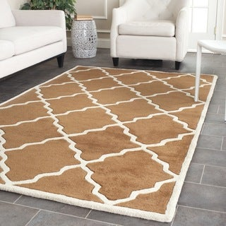 Safavieh Handmade Moroccan Chatham Brown Wool Rug (7' Square)