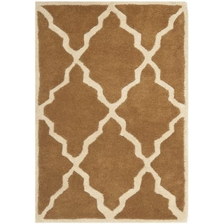 Safavieh Handmade Moroccan Chatham Brown Wool Rug (2' x 3')
