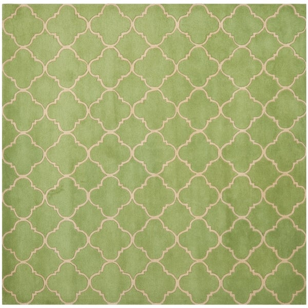 Safavieh Handmade Moroccan Chatham Green Wool Rug (7' Square)