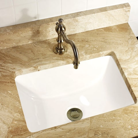 Highpoint Collection Petite 16x11 Rectangle Ceramic Undermount Vanity Lavatory Sink