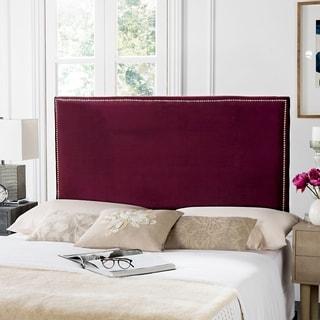 Safavieh Sydney Bordeaux Linen Upholstered Headboard - Silver Nailhead