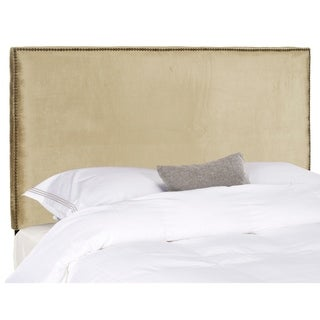 Safavieh Sydney Antique Sage Upholstered Headboard - Brass Nailhead