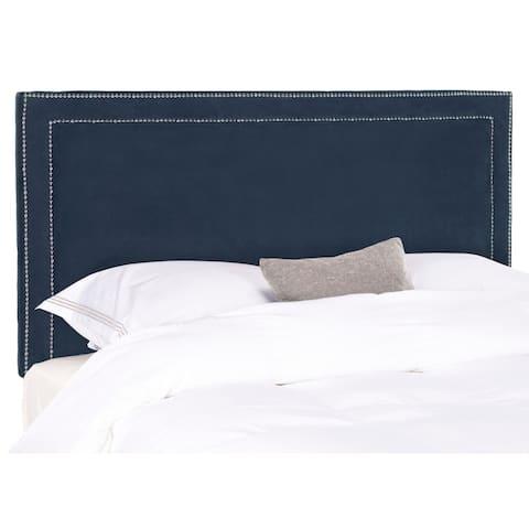 Safavieh Cory Royal Blue Velvet Upholstered - Silver Nailhead (Queen)