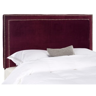 Safavieh Cory Bordeaux Velvet Upholstered Headboard - Silver Nailhead (Queen)