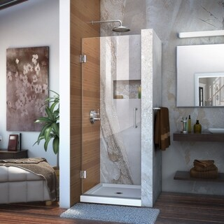 DreamLine Unidoor 23 in. W x 72 in. H Frameless Hinged Shower Door, Clear Glass - 23 in. w x 72 in. h