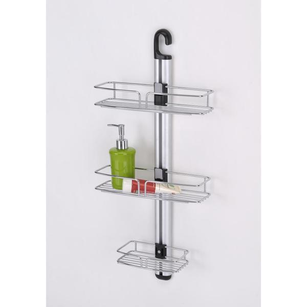 Modern Shower/ Bathroom Wall Mount with Three Racks