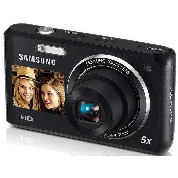 Samsung DV100 16.4MP Dual View Black Digital Camera