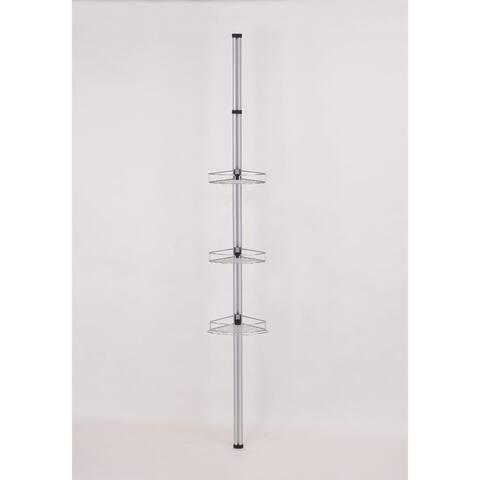 Modern Telescoping Pole with 3 Storage Racks