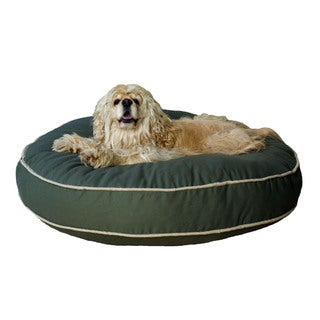 Carolina Pet Classic Sage Green Cotton Canvas Round Pet Bed