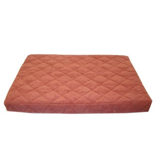 Carolina Pet Jamison Quilted Orthopedic Protector Pad Earth Red Pet Bed